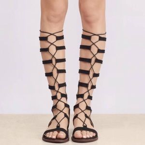 Chinese Laundry Knee-High Gladiator Sandals